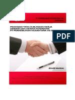 Pedoman Tata Hubungan Kerja Direksi Dan Dewan Komisaris - Board Manual
