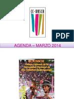 - AGENDA – MARZO  2014