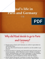 Team2_rizal's Life in Paris and Germany