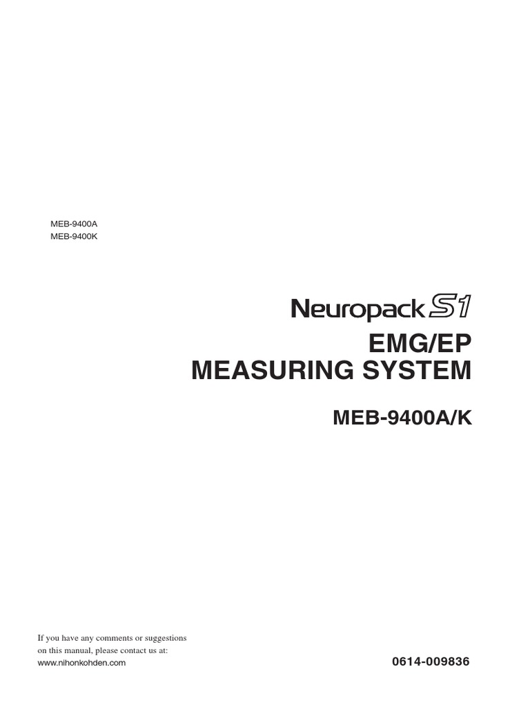 meb9400_om | Electromyography | Computer File