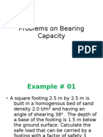 Problems on Bearing Capacity