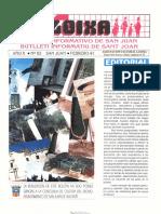 LLOIXA. Número 82, febrero/febrer, 1991. Butlletí Informatiu de Sant Joan. Boletín informativo de Sant Joan.  Autor