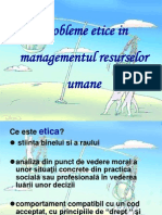 Probleme Etice in Managementul Resurselor Umane