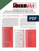LLOIXA. Número 83, marzo-abril/març-abril, 1991. Butlletí Informatiu de Sant Joan. Boletín informativo de Sant Joan.  Autor