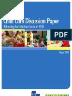 Child Care Discussion Paper