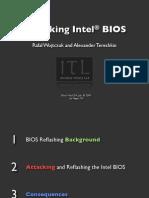 Attacking Intel BIOS