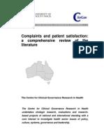 Literature Review Patient Satisfaction and Complaints