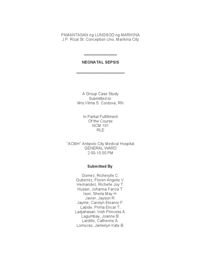 sepsis case studies
