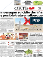 Periódico Norte de Ciudad Juárez edición impresa del 14 marzo del 2014