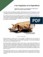 La evolución de los Ungulados en la Papiroflexia