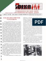 LLOIXA. Número 85, octubre-noviembre/octubre-novembre, 1991. Butlletí Informatiu de Sant Joan. Boletín informativo de Sant Joan.  Autor