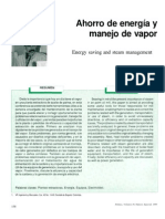 Ahorro de energía y manejo de vapor