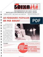 LLOIXA. Número 87, julio-agosto/juliol-agost, 1992. Butlletí Informatiu de Sant Joan. Boletín informativo de Sant Joan.  Autor