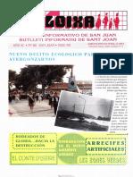 LLOIXA. Número 88,enero/gener, 1993. Butlletí Informatiu de Sant Joan. Boletín informativo de Sant Joan.  Autor