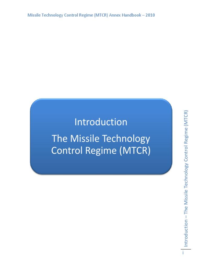 Mtcr Annex Handbook Eng Rocket Cruise Missile Breadbox Desktop Circuit Board Maker Etchanting