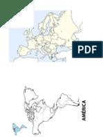 mapas em branco 7º ano