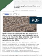 ONU recomenda mudança global para dieta sem carne e sem laticínios – Portugal Mu