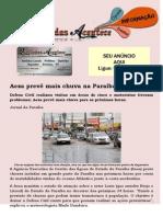 Aesa prevê mais chuva na Paraíba