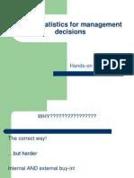 Using Statistics for Management Decisions