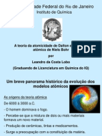 Teorias atômicas de Dalton e Niels Bohr