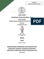 Soal Osn Kimia Tahun 2013 Di Bandung
