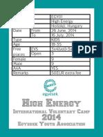 EGY01 - Egyesek Voluntary Camp Booklet