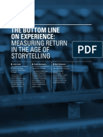 The Bottom Line on Experience