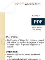 Payment of Wages Act(1)
