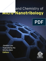 Physics and Chemistry of Micro Nanotribology