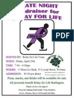Relay Skate Night Flyer