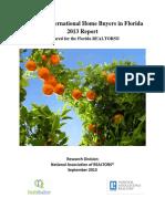 2013 Florida International Buyers Report