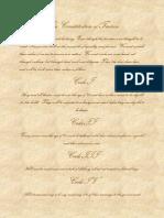 The Constitution of Taurus