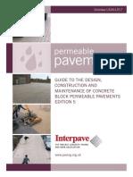 Permeable Pavement Design