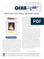 LLOIXA. Número 100, primavera, 2003. Butlletí Informatiu de Sant Joan. Boletín informativo de Sant Joan.  Autor