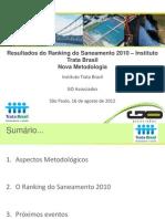 Estudo - Apresentação Ranking do Saneamento