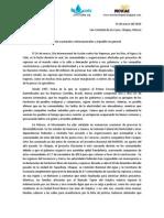 BOLETIN DE PRENSA 14 de marzo 2014  MAPDER,  REDLAR  Y MOVIAC-Chiapas