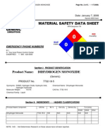 Dihydrogen monoxide (DHMO) MSDS Safety Data Sheet