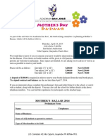 Mother's Bazaar 2014 Contract