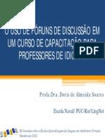 O USO DE FÓRUNS DE DISCUSSÃO EM UM CURSO DE CAPACITAÇÃO PARA PROFESSORES DE IDIOMAS