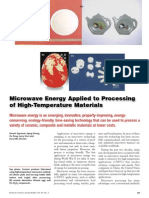 Microwave Energy Applied to Processing of High-Temperature Materials