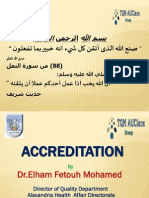 Accreditation & Auditing - By - Dr. Ilham Fetoh - 5-3-2014