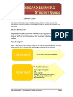 01 Blackboard Learn 9 - Student Guide (PDF)
