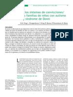 cambios en los sistemas de convicciones valores de las familias con niños con trastorno autista