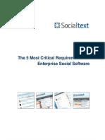 WP-5 Requirements for Enterprise Social Software V1