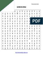 Coleccion de 100 Matrices de Letras Para Trabajar La Dislexia Tamac3b1o Medio Vol 11