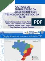 Prospecti2013 Gesil_Financiamento FAPESB