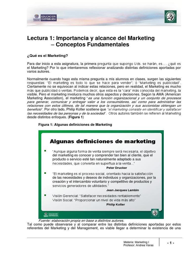 Lectura 1 - Importancia y Alcance Del Marketing