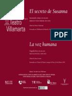 Libreto El Secreto de Susanna y La Voz Humana