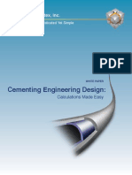 Cementing Engineering Design