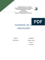 ensayo  filosofia de la educación